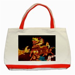 Dragon Lights Classic Tote Bag (red)