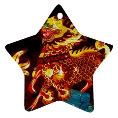 Dragon Lights Star Ornament (two Sides)