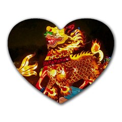 Dragon Lights Heart Mousepads