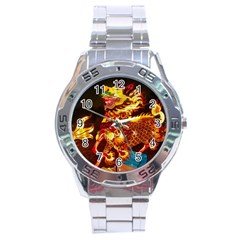 Dragon Lights Stainless Steel Analogue Watch
