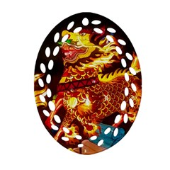 Dragon Lights Ornament (oval Filigree)