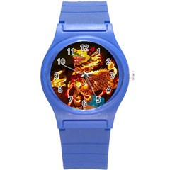 Dragon Lights Round Plastic Sport Watch (s)