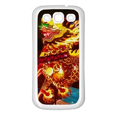 Dragon Lights Samsung Galaxy S3 Back Case (white)