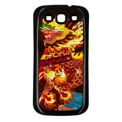 Dragon Lights Samsung Galaxy S3 Back Case (black)
