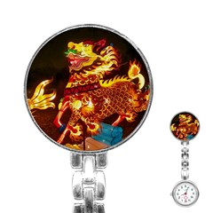 Dragon Lights Stainless Steel Nurses Watch
