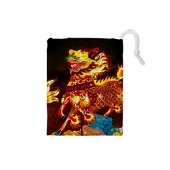 Dragon Lights Drawstring Pouch (small)