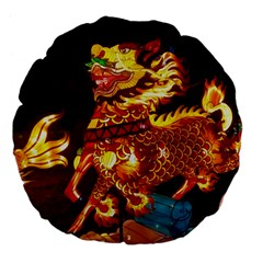 Dragon Lights Large 18  Premium Flano Round Cushions