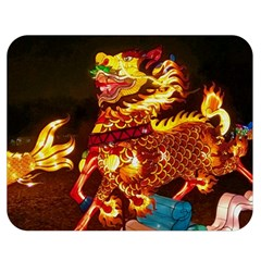 Dragon Lights Double Sided Flano Blanket (medium)