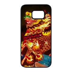 Dragon Lights Samsung Galaxy S7 Edge Black Seamless Case
