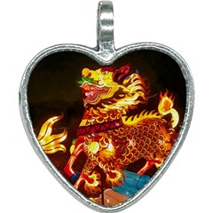 Dragon Lights Heart Necklace