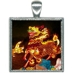 Dragon Lights Square Necklace