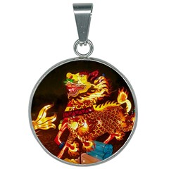 Dragon Lights 25mm Round Necklace