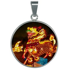 Dragon Lights 30mm Round Necklace
