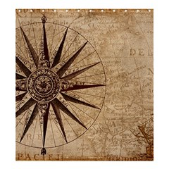 Vintage Compass Shower Curtain 66  X 72  (large)  by WensdaiAddamns