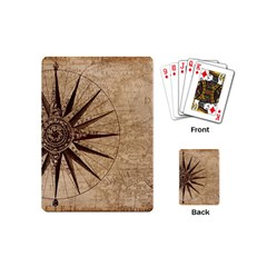 Vintage Compass Playing Cards (mini) by WensdaiAddamns