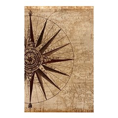 Vintage Compass Shower Curtain 48  X 72  (small)  by WensdaiAddamns