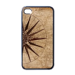 Vintage Compass Apple Iphone 4 Case (black) by WensdaiAddamns