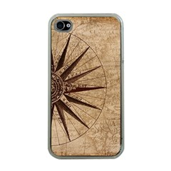 Vintage Compass Apple Iphone 4 Case (clear) by WensdaiAddamns