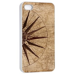 Vintage Compass Apple Iphone 4/4s Seamless Case (white) by WensdaiAddamns