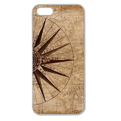 Vintage Compass Apple Seamless Iphone 5 Case (clear) by WensdaiAddamns