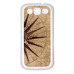 Vintage Compass Samsung Galaxy S3 Back Case (white) by WensdaiAddamns