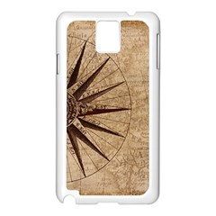 Vintage Compass Samsung Galaxy Note 3 N9005 Case (white) by WensdaiAddamns