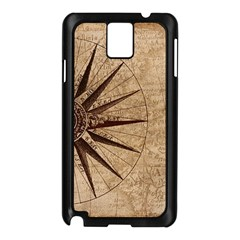 Vintage Compass Samsung Galaxy Note 3 N9005 Case (black) by WensdaiAddamns