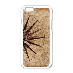 Vintage Compass Apple Iphone 6/6s White Enamel Case by WensdaiAddamns