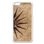 Vintage Compass Apple iPhone 6 Plus/6S Plus Enamel White Case Front