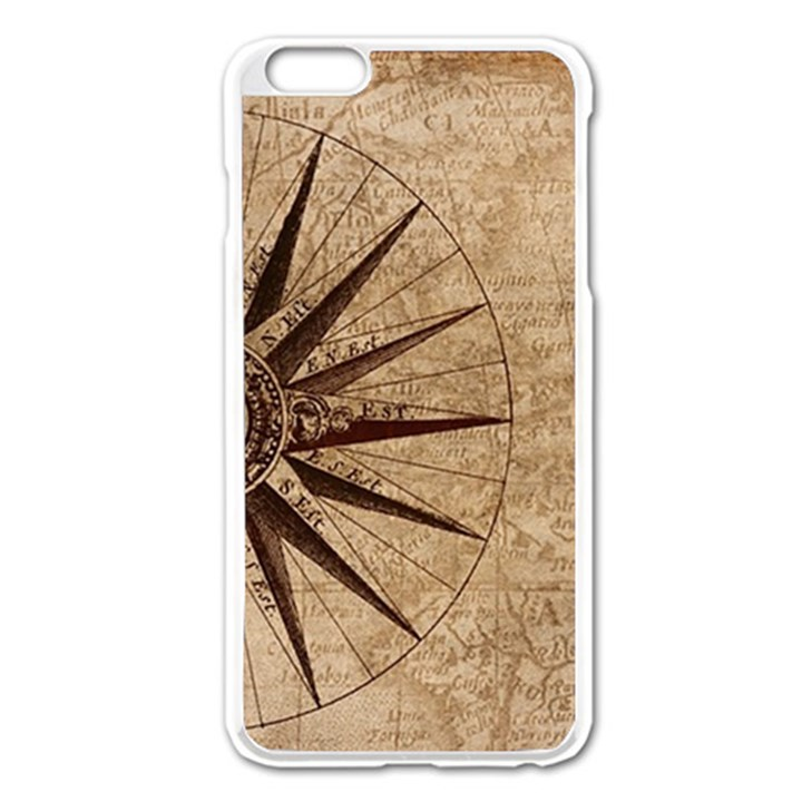 Vintage Compass Apple iPhone 6 Plus/6S Plus Enamel White Case