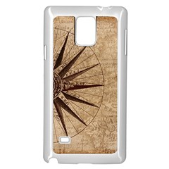 Vintage Compass Samsung Galaxy Note 4 Case (white) by WensdaiAddamns