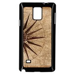 Vintage Compass Samsung Galaxy Note 4 Case (Black) Front