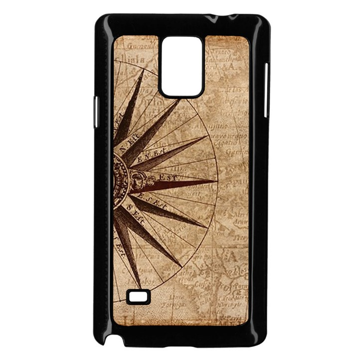 Vintage Compass Samsung Galaxy Note 4 Case (Black)