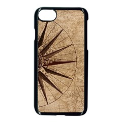 Vintage Compass Apple Iphone 7 Seamless Case (black) by WensdaiAddamns