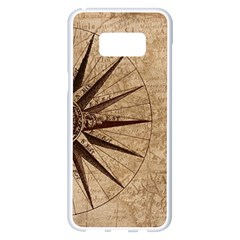 Vintage Compass Samsung Galaxy S8 Plus White Seamless Case by WensdaiAddamns