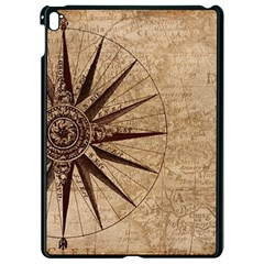 Vintage Compass Apple Ipad Pro 9 7   Black Seamless Case by WensdaiAddamns