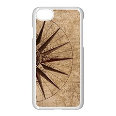 Vintage Compass Apple Iphone 8 Seamless Case (white) by WensdaiAddamns