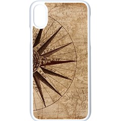 Vintage Compass Apple Iphone Xs Seamless Case (white) by WensdaiAddamns