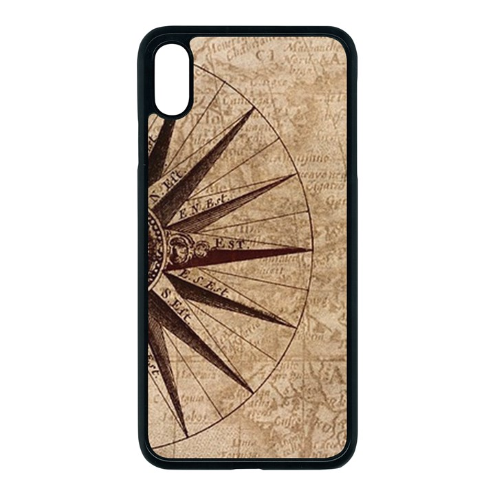 Vintage Compass Apple iPhone XS Max Seamless Case (Black)