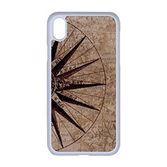Vintage Compass Apple Iphone Xr Seamless Case (white) by WensdaiAddamns