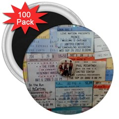 Concert Memorabilia  3  Magnets (100 Pack) by StarvingArtisan