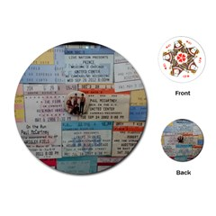 Concert Memorabilia  Playing Cards (round)