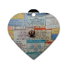 Concert Memorabilia  Dog Tag Heart (two Sides) by StarvingArtisan
