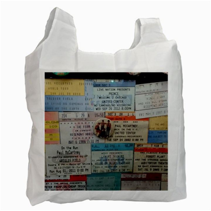 Concert Memorabilia  Recycle Bag (One Side)