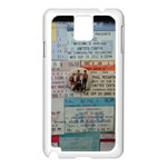 Concert Memorabilia  Samsung Galaxy Note 3 N9005 Case (White) Front