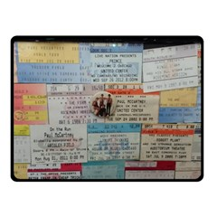 Concert Memorabilia  Double Sided Fleece Blanket (small)
