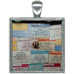 Concert Memorabilia  Square Necklace by StarvingArtisan