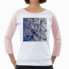 Pelicans In Flight Girly Raglan