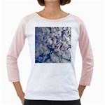 Pelicans In Flight Girly Raglan Front