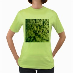 Pelicans In Flight Women s Green T Shirt